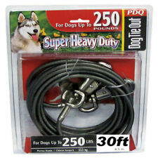 PDQ 30' Heavy Duty Cable Tie out W/ Swivel Leash Hook Dogs up to 250lbs