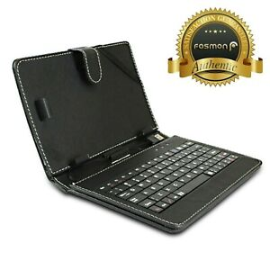 "Black PU Leather Stand Case USB Keyboard Stylus for Coby Kyros 7"" Android Tablet"