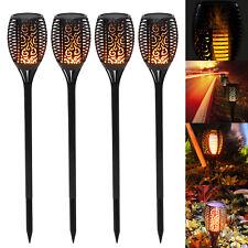 4er LED Solarfackel 96 LED Licht flackernd Flammenimitation Gartenfackel