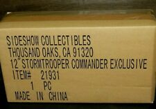 """SIDESHOW EXCLUSIVE  STAR WARS STORMTROOPER COMMANDER NEW 12"""" FIGURE SHIP SEALED"""