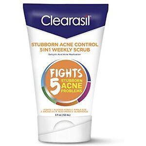 Clearasil Stubborn Acne Control 5in1 Weekly Scrub, 5 oz.