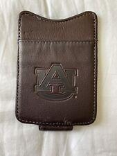 AUBURN UNIVERSITY AU Leather Money Clip