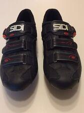 SIDI Genius 5-PRO CARBON MILLENNIUM III ROAD BIKE CYCLING SHOES SIZE 45.5 Black