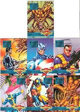 Mission: Infestation Incident Sub-set 7 x Marvel Overpower Trading Cards Game!!!