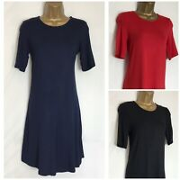 M&S Stretch Jersey Swing Dress 3 Colours Sizes 6 - 32  3 Lengths  (ms-294h)