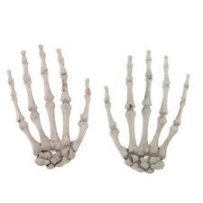 2pcs Gothic Halloween Skeleton Human Hands Bone Haunted House Horror Props