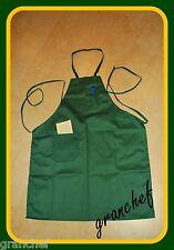 Apron / Food Service Bib Style  ~  Green ~ 2 pockets ~ New! Mixed Cotton/Poly