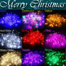 10M 100 LED EU Plug  Xmas Party Decor Outdoor Fairy String Light Lamp Waterproof