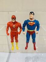 DC Super Powers Collection - The Flash & Superman Figures Vintage Kenner 1984