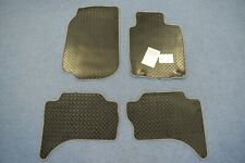 Tailored Fit 4pc Black Rubber Mat Silver/Black Trim for Mitsubishi L200 (2015 on