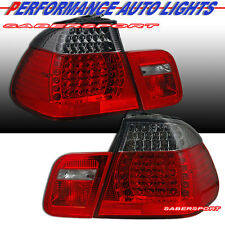 """1999-2001 BMW E46 3-SERIES 4DR SEDAN """"L.E.D."""" LED TAIL LIGHTS 4PCS RED SMOKE"""