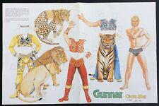 Gunnar, Circus Star Mag. Paper Doll,1988, By John Axe, Uncut