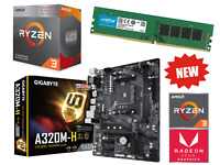 AMD Ryzen 4 Core 4.0GHz Gigabyte A320M PRO Gaming Motherboard Bundle 8GB RAM