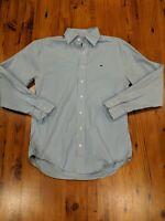 Vineyard Vines Blue Mens Long Sleeve Button Down Small Whale Emblem Shirt