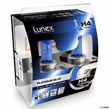 2x H4 PLATINUM BLUE Lunex 4700K 12V Azul Bombillas Halógenas Faros Hard Case