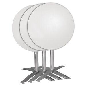 Bolero Flip Top Aluminium Table Base   Indoors Outdoors Furniture