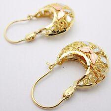 10k Tri Tone gold Women's Ladies  Earrings