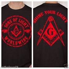 EXCLUSIVE: Large, T-shirt, 2-Sided Print, SONS of LIGHT(TM), Masonic, Freemason