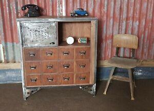tolle alte Kommode Sideboard Industriedesign Loft Vintage restauriert Unikat