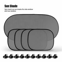 5Pcs Car Sun Shade Cover Rear Side Window Kids Baby Max UV Protection Block Mesh