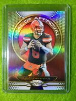 BAKER MAYFIELD PRIZM CARD JERSEY #6 BROWNS REFRACTOR SP  2019 Certified Football