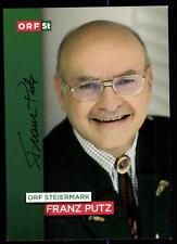 Franz Putz ORF Autogrammkarte Orignial Signiert # BC 51586