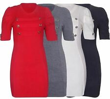 Plus Size Acrylic Crew Neck Dresses for Women