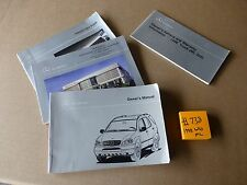 1998 Mercedes W163 ML 320 Owners Manual And supplements  #738