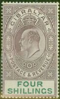 Gibraltar 1903 4s Dull Purple & Green SG53 Fine Mtd Mint (5)