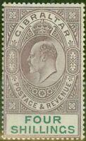 Gibraltar 1903 4s Dull Violet & Vert SG53 Fin MTD Excellent État (5)
