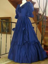 LAURA ASHLEY VINTAGE SWAGS & BOWS SOUTHERN BELLE PERIOD GOWN & PETTICOAT,10/12