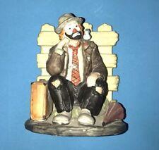 Flambro Emmett Kelly Jr Ekj Clown Bookend Picket Fence Suitcase Bird Umbrella
