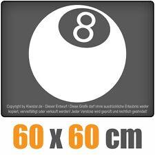 8-Ball chf0158 white 60 x 60 cm Rear window sticker Car Car Windscreen