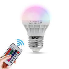 3W E27 RGB LED Light Bulb 16Colors Changing Magic Lamp+ 24 key Remote Control