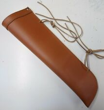 double bass bow quiver , leather , classic tan , same day UK shipping