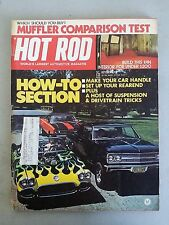Hot Rod Magazine October 1973 - How-To Section - Muffler Comparison - NHRA Drags