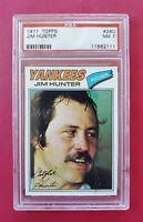 1977 Topps #280 JIM HUNTER (Yankees) **PSA 7 (NM)** *BEAUTIFUL & CENTERED* WOW!