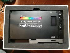 RGB LED Video Light Camera Camcorder Hagibis King 10 Rechargeable A05