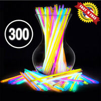 """300 Glow Sticks Bulk Party Supplies - Glow in The Dark Fun Party Pack with 8"""""""
