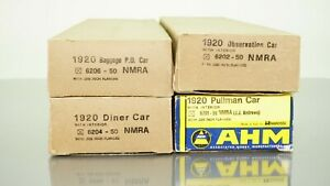 Lot of 4 AHM/Rivarossi NMRA Headquaters Express Passenger cars HO scale