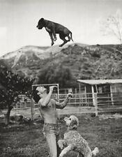 1985 Vintage Semi Nude PATRICK SWAYZE Dogs By Bruce Weber Poodle Photo Art 16X20
