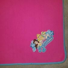 Disney Princess Pink Fleece Blanket Belle Sleeping Beauty Cinderella Throw Lap