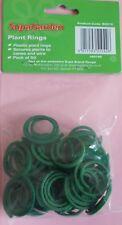 SupaGarden Piante Anelli Confezione da 50 in plastica verde riutilizzabili Luce Pianta Supporto 3 cm
