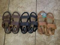 New Womens BOC Genuine Leather Sandals Berries Black Brown Tan 6 7 8 9 10 11