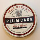 Vintage Mac Barren's Plum Cake Tobacco Tin - Navy Blend