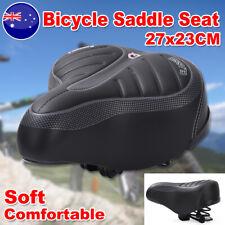 Wide Bum Bike Seat MTB Mountain Road Bicycle Saddle Shockproof Soft Gel Cushion