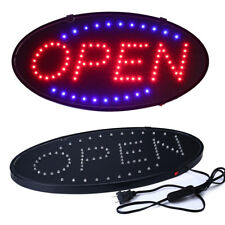 "Bright Animated Led Open Store Shop Business Sign 19x10"" neon Display Lights Bt