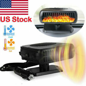 Red Car Heater Car Windshield Defogger Defroster 12 Volt 150W Auto Heating Fan 3-Outlet 30 Seconds Fast Heating Demister