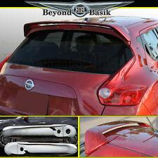 Fits 11-17 NISSAN JUKE Spoiler + Chrome Door Handle Covers with Smart Key holes