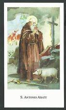 estampa de San Antonio Abad santino holy card image pieuse